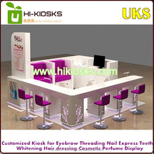 Luxury glamour nail kiosk/nail salon equipment