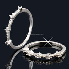 Wholesale 925 pure silver ring jewelry with CZ -- JR8714