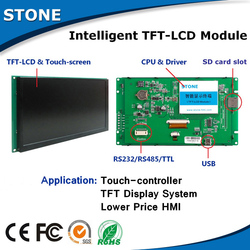 10.1 inch TFT LCD touch module smart home , plastic screen
