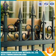 Garden decorative assembled wrought iron fence