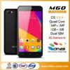 Unique design hot MTK6582 quad core 5 inch QHD 3G cellular phone