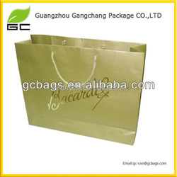 Accept custom sizes luxury paper bags for cloth packing