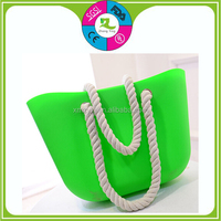 2015 Fashion shopping silicone jelly handbag/ silicone storage bag