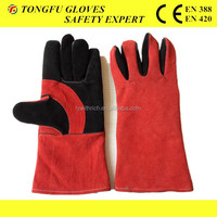 China suppliers chrome free leather work safety gloves for welders