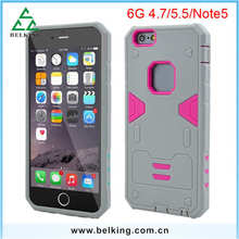 For iPhone 6 6 Plus Mix Material Silicon PC Covers Case For iPhone 6 Hybrid Hard Shell Back Covers Case