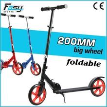 Fasy adult folding big wheels kick scooter 2 wheel kick bike