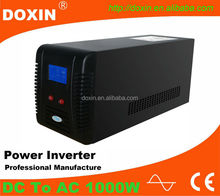 chinese factories 1000w inverter sine pure with ups and charger function,1000w 12v to 220v converter inverter for home use