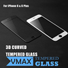 2015 Hot Products !! Black/White 0.33mm 9H HD Clear Color tempered glass screen protector for iPhone 6