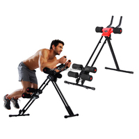 AB GLIDER ABDOMINAL HOME GYM FITNESS WORKOUT EXERCISE CRUNCHER MACHINE