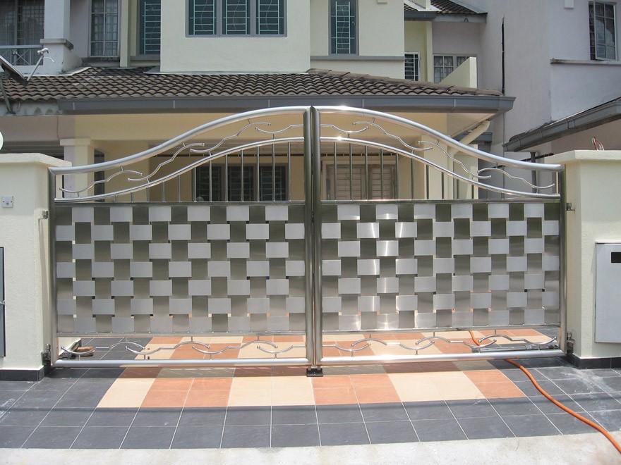 New Design Cast Iron Aluminium Stainless Steel Gate Models With Metal  Garden Gates Bq.