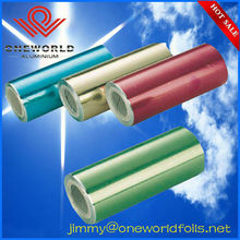 embossed hairdressing aluminum foil with tissue roll or sheets with printing for hair beauty with printed box and cutter