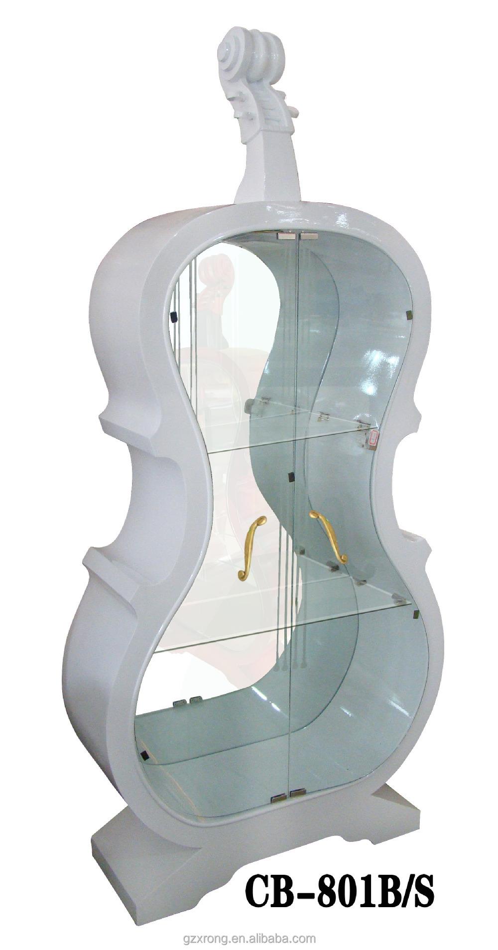 Luxe viool hout wijn kast met glazen deur voor de woonkamer ...