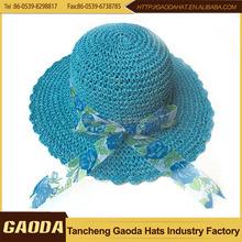 Popular design Red Paper straw Summer Panama hat