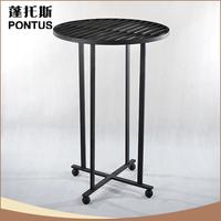 Unique design antique small wrought iron corner decoration dining table