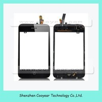 for iPhone 3GS Front Glass + Touch Screen Digitizer + Frame Front Assembly Black