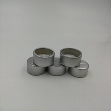 23mm diameter shiny silver aluminum cap for beverage bottle