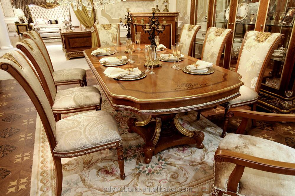 0062 barroco larga reposteria y sillas de madera de diseño ...