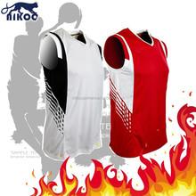 custom design color red basketball uniform image
