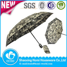 2015 Folding Umbrella Windproof Auto Open Umbrella Parasol Aluminium