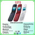 precio barato de doble tarjeta SIM mini-flip E1272 celular with1.77inch SC6531