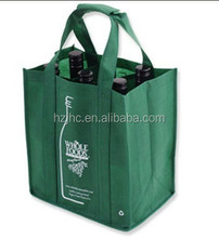 Billige pp/pet vlies weinflaschen halter tasche stoff