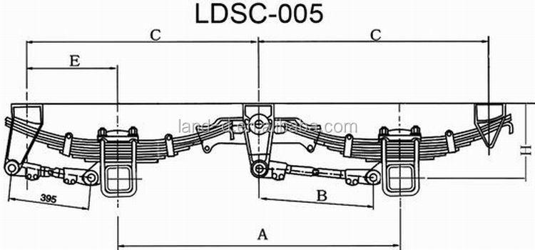 Semi Axle Diagrams : Semi truck mm width thickness leaf spring