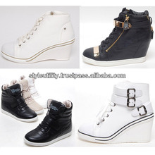 2014 s/s women hidden wedge heel fashion sneakers