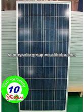 high efficiency solar cells(156*156mm) Poly 100-150W pv Solar panel