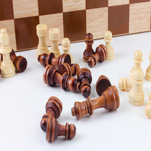 """11.5"""" Handmade Classic Wooden Folding Travel Chess Board Game"""