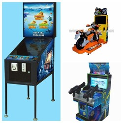 coin operated kids electronic racing motorcycle simulator shooting arcade game machine pinball for children game center 6901