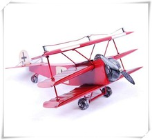 New Desigh of Fighting Aircraft Three Color Triplane Models, Metal Airplane Model for gifts