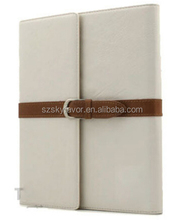 Tan Buckle Leather Stand Cover Case For iPad mini