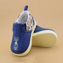 slip-on toddlers bootie shoes canvas material