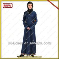 2014 Blue jean Dubai abaya