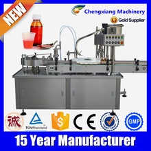 Gold supplier automatic filling machine,syrup filling line for glass bottles