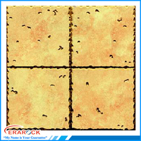 Crystal Polished Ceramic Wall and Floor Tile 300x300mm With Gold