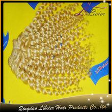 fashion popular hot sale human hair curly blonde virgin hair russia