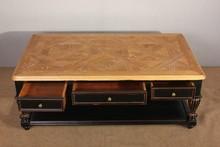 Vintage in legno recuperato tavolino quadrato/mano tavolo in legno intagliato da caffè