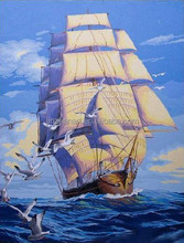 2015 New arrivals wholesale Smooth Sailing canvas oil painting with EN-71,ASTM,SGS