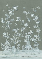 2015 Chinese elegant thick hand painted Wallpaper