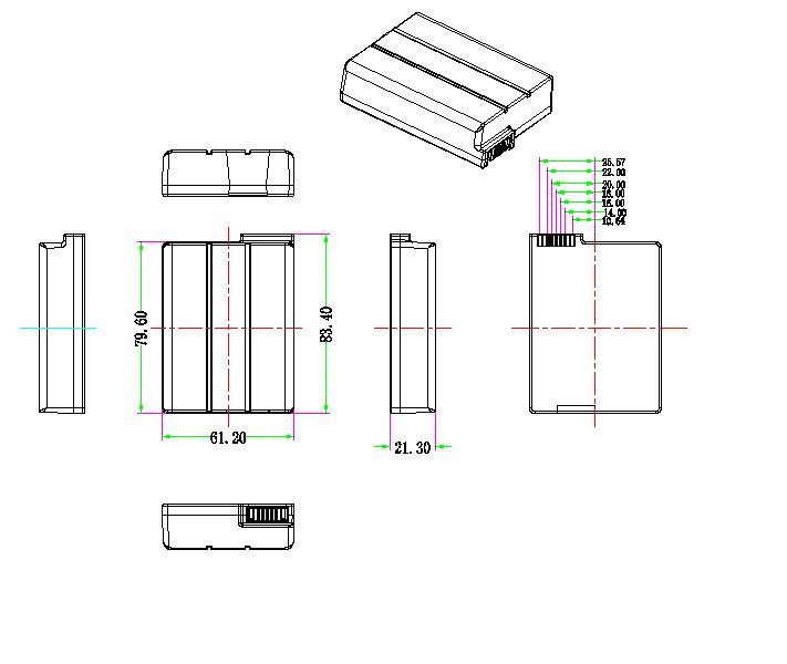 lithium battery 10 8v 2200mah 3s for motorola sbv5222