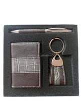 Elegant Promotion Leather Business Card Holder Set Business Gift Set