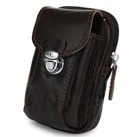 New Highest Quality Hot Sale Top Grade Multifunctional Handmade Top Layer Leather Men's Waist Bag#7066C