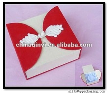 elegance foldable paper jewelry box for ring packaging