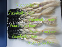 top quality fashion two tone black/blonde braided synthetic hair