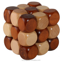 hot selling brain teaser wooden snake cube puzzle