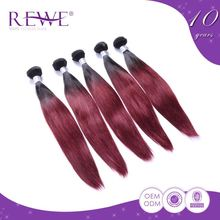 Professional Produce Various Colors Prebonded Ombre 1/99J Straight Virgin Hair Extension