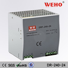 Din rail single output DR-240-24 24v 10a dc power supply