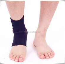 Four Sizes Black Embossing Neoprene Ankle Brace Fits All