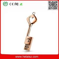 Generic Metal Heart Key Shape 16GB 16G USB Flash Drive Pen Drive Memory Stick USB Flash Disk